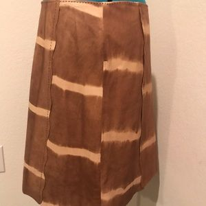 Worth genuine leather a-line skirt size 12 -nwot